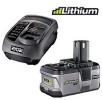 BLK 1820 lithiová baterie 18V/2,4Ah a 18 V univerzální nabíječka RYOBI ONE+